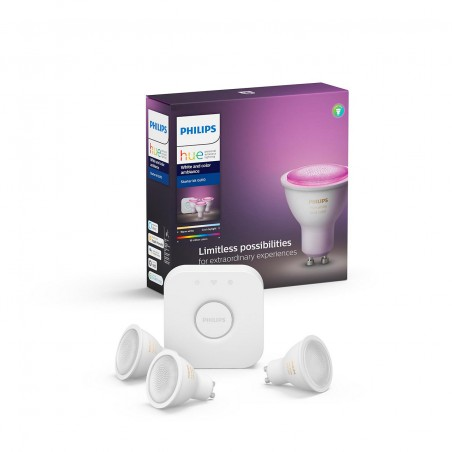 Philips Hue White and Color ambiance 6,5W GU10 promo starter kit