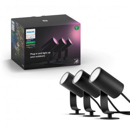 Philips Hue Lily Outdoor with the base unit sada 3x
