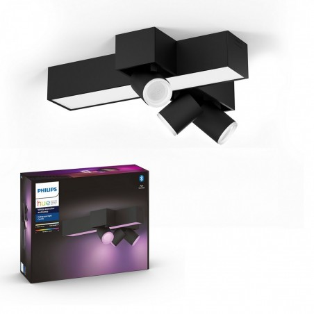 Philips Hue White and Color Ambiance Centris 3L Cross Ceiling Black 50608/30/P7A