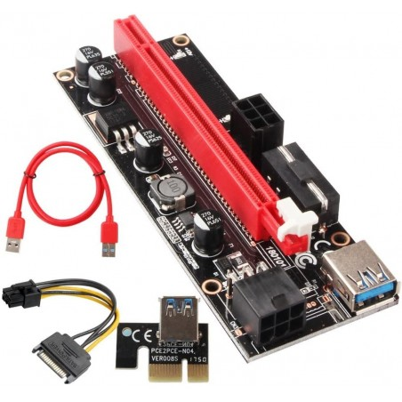Riser ver009s - reduction PCIe x1 na PCIe x16