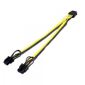 PCI-E 8 pin (F) to 2x PCI-E...
