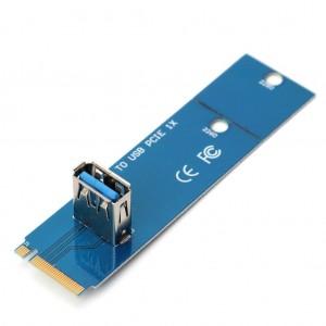 Redukce NGFF M.2 na PCIe USB 3.0 pro riser