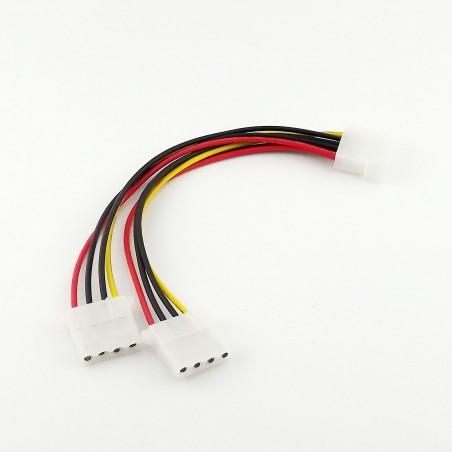 Splitter Molex 4 pin (M) to 2 x Molex 4 pin (F) - 20 cm