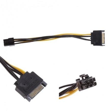 Power adapter SATA 15 pin to PCI-E 6 pin